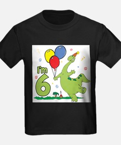 Dino 6th Birthday Kids T-Shirt