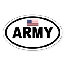ARMY Flag Oval Decal