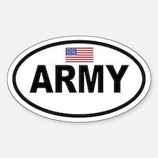 ARMY Flag Oval Decal