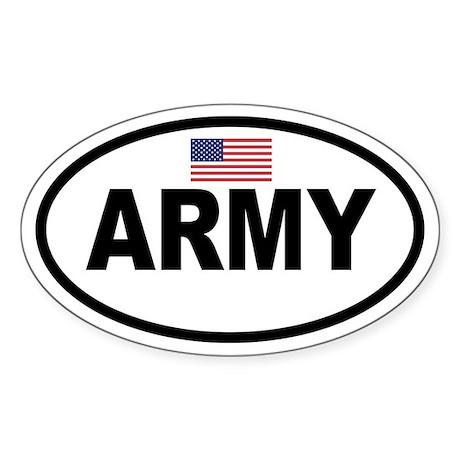 ARMY Flag Oval Sticker