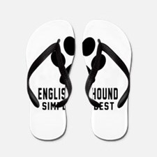 English Foxhound Simply The Best Flip Flops