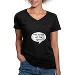 LIGHTS OUT Women's V-Neck Dark T-Shirt