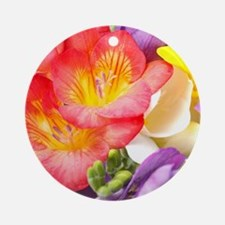 Colorful Flowers Round Ornament
