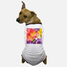 Colorful Flowers Dog T-Shirt