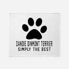 Dandie Dinmont Terrier Simply The Be Throw Blanket