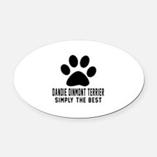 Dandie Dinmont Terrier Simply The Oval Car Magnet