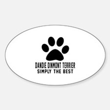 Dandie Dinmont Terrier Simply The B Sticker (Oval)