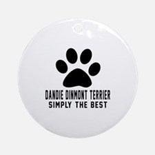 Dandie Dinmont Terrier Simply The B Round Ornament