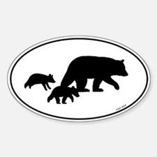 Bear Silhouettes Decal
