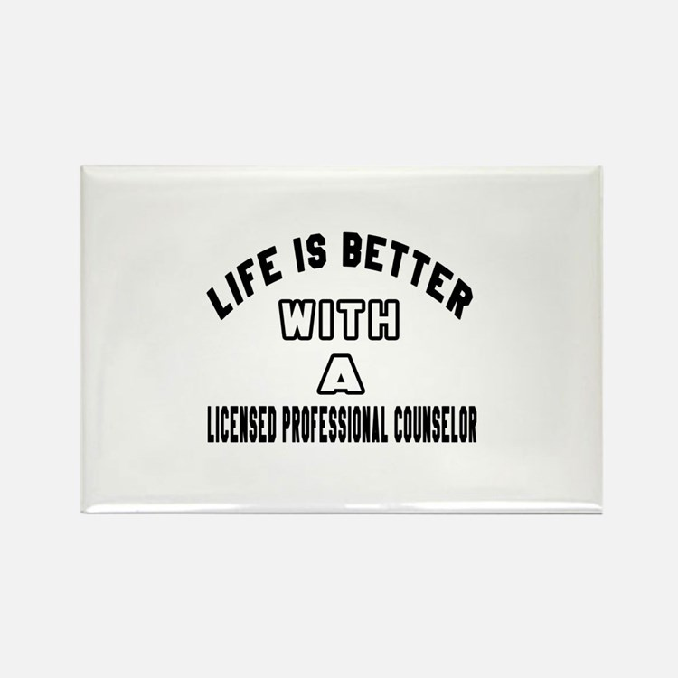 Licensed Professional Counselor D Rectangle Magnet