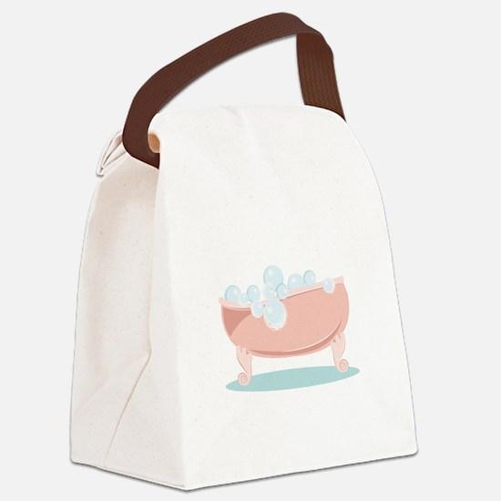 Bubble Bath Canvas Lunch Bag
