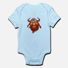 Viking Warrior Head Angry Isolated Retro Body Suit