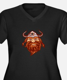 Viking Warrior Head Angry Isolated Retro Plus Size