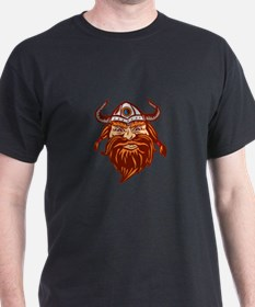 Viking Warrior Head Angry Isolated Retro T-Shirt