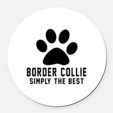 Border Collie Simply The Best Round Car Magnet