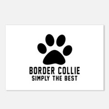 Border Collie Simply The Postcards (Package of 8)