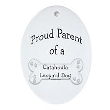 Catahoula Proud Parent Oval Ornament