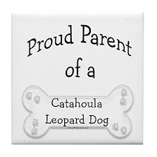 Catahoula Proud Parent Tile Coaster