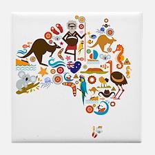 Cute Aussie Tile Coaster