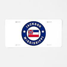 Jackson Mississippi Aluminum License Plate