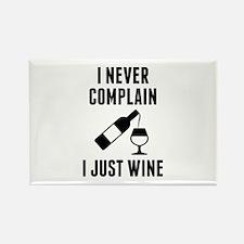 I Just Wine Rectangle Magnet