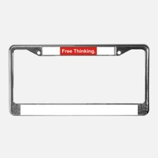 Free thinking License Plate Frame