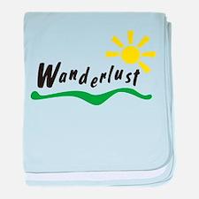 Wanderlust baby blanket