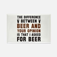 Beer And Your Opinion Rectangle Magnet (10 pack)