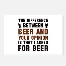 Beer And Your Opinion Postcards (Package of 8)