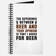 Beer And Your Opinion Journal