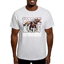 """""""Horse Racing"""" Ash Grey T-Shirt"""