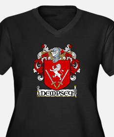 Dempsey Coat of Arms Women's Plus Size V-Neck Dark