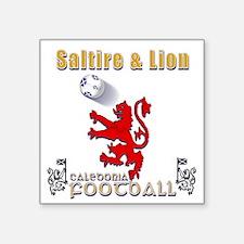 saltire and lion rampant football Sticker