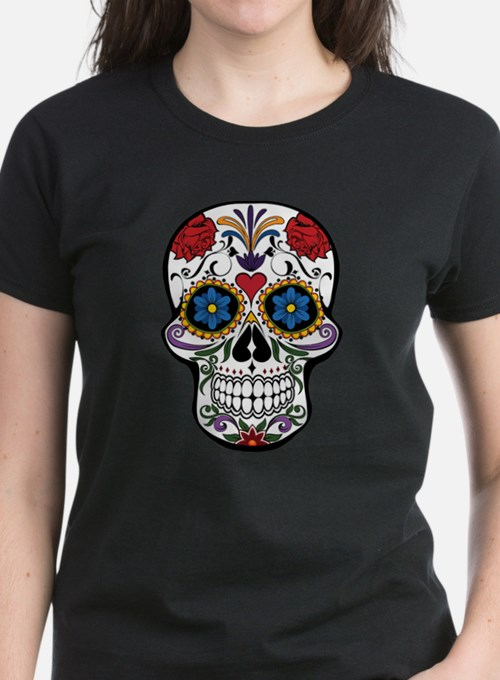 Colorful Floral Sugar Skull T-Shirt