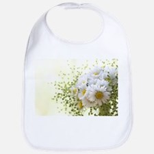 Bouquet of daisies in LOVE Bib