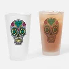 Colorful Skull Drinking Glass