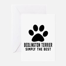 Bedlington Terrier Simpl Greeting Cards (Pk of 20)