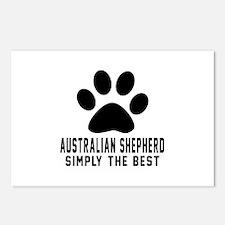 Australian Shepherd Simpl Postcards (Package of 8)