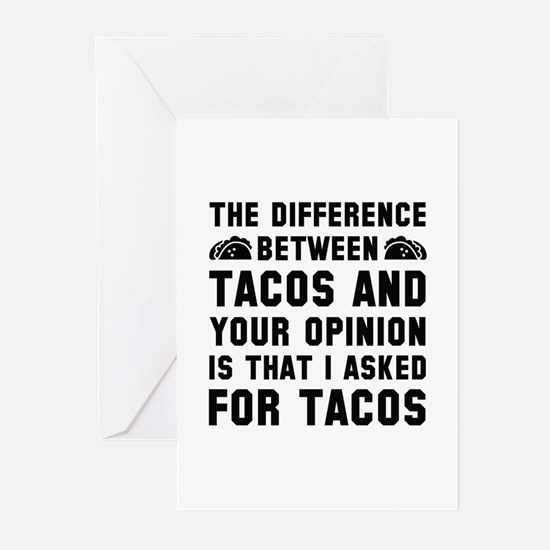 Tacos And Your Opinion Greeting Cards (Pk of 20)