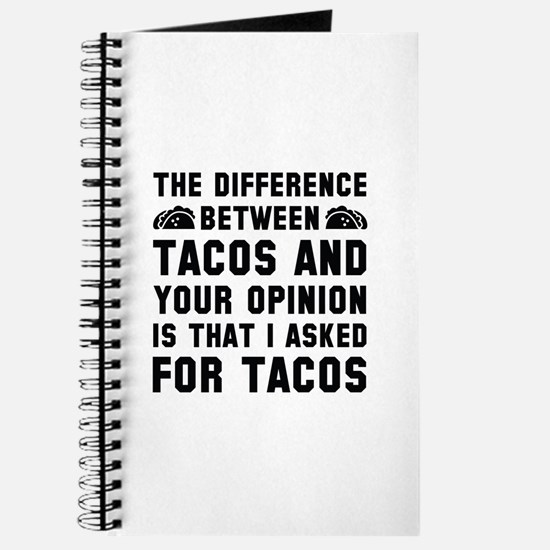 Tacos And Your Opinion Journal