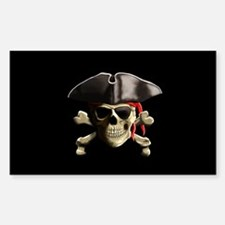 The Jolly Roger Pirate Skull Decal