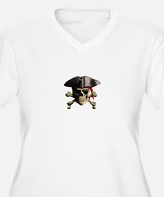 The Jolly Roger Pirate Skull Plus Size T-Shirt