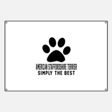 American Staffordshire Terrier Simply The B Banner