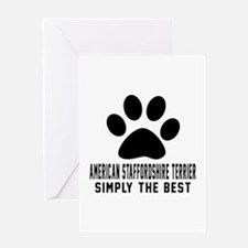 American Staffordshire Terrier Simpl Greeting Card