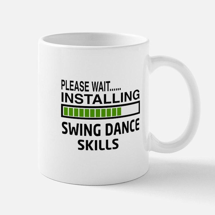 Please wait, Installing Swing dance ski Small Small Mug