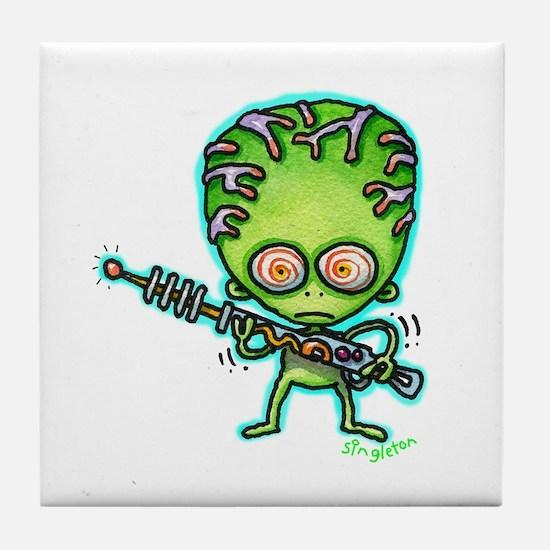 Cute Aliens Tile Coaster