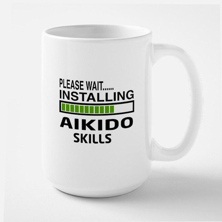 Please wait, Installing Aikido skills Large Mug
