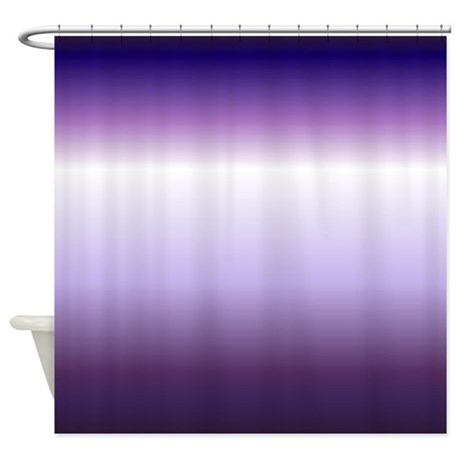 Abstract Lilac Purple Ombre Shower Curtain