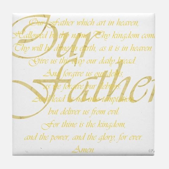 dk lords prayer.png Tile Coaster