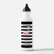 Monogram Flamingo Blac Water Bottle